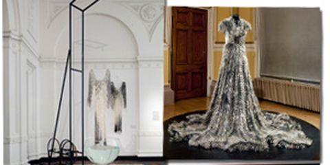 Formal wear, Dress, Costume design, Gown, Victorian fashion, Design, Haute couture, Hall, Embellishment, Fashion design,
