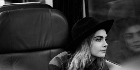 Hat, Style, Monochrome, Street fashion, Sun hat, Monochrome photography, Black-and-white, Model, Fedora, Sweater,
