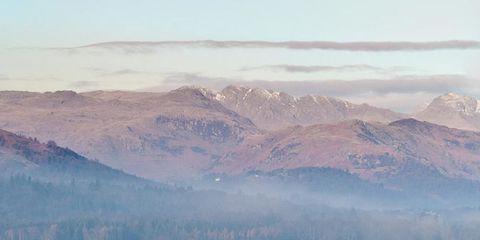 Mountainous landforms, Highland, Landscape, Natural landscape, Mountain range, Mountain, Atmospheric phenomenon, Bank, Hill, Loch,