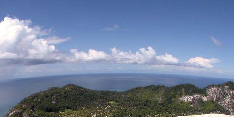 Body of water, Coastal and oceanic landforms, Coast, Cloud, Island, Aqua, Sea, Ocean, Azure, Turquoise,