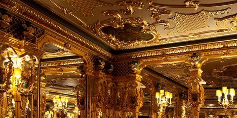 Lighting, Interior design, Furniture, Ceiling, Room, Chair, Amber, Hall, Restaurant, Interior design,