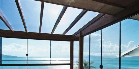 Property, Resort, Real estate, Daylighting, Hardwood, Azure, Outdoor furniture, Swimming pool, Shade, Deck,