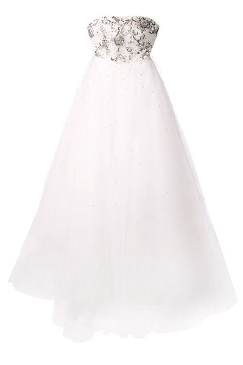 Product, Textile, White, Style, Dress, Wedding dress, Pattern, Gown, Embellishment, Grey,