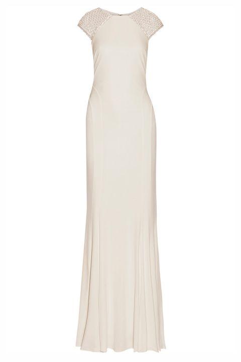 Dress, Textile, One-piece garment, Formal wear, Day dress, Fashion, Pattern, Neck, Gown, Aqua,