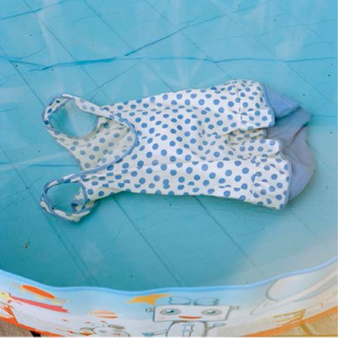 Blue, Textile, Pattern, Aqua, Baby & toddler clothing, Turquoise, Azure, Polka dot, Pattern, One-piece garment,