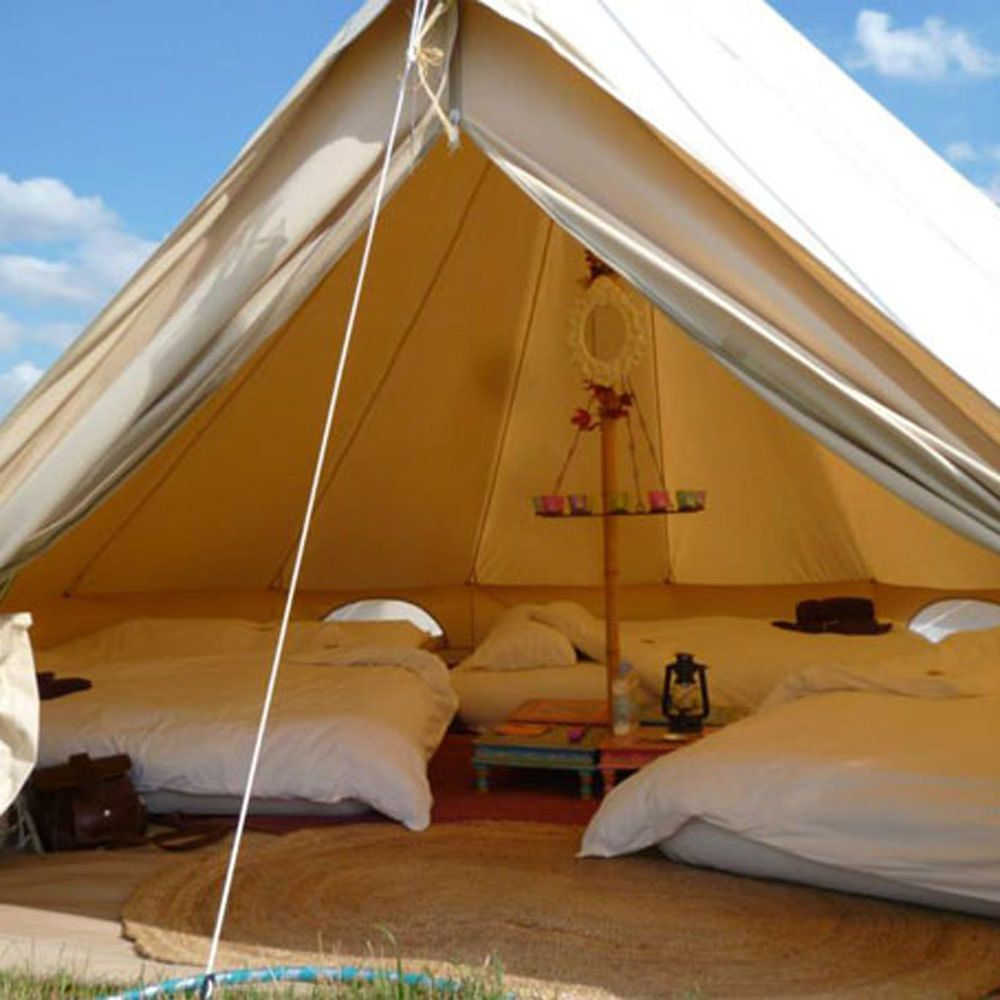 camping in your bell tent