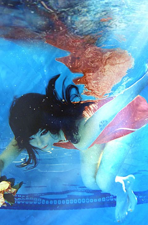 Blue, Aqua, Azure, Art, Electric blue, Turquoise, Fictional character, Painting, Art paint, Animation,