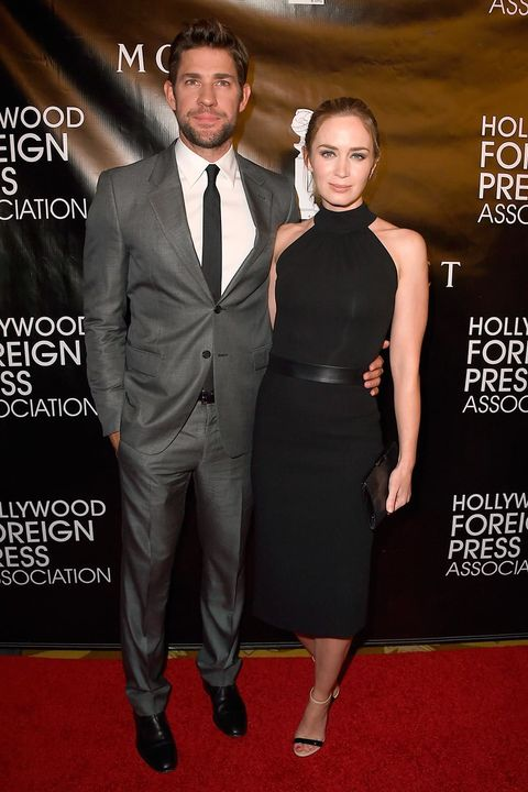 a6f5f521c470 13 August Emily Blunt was chic in a halterneck Michael Kors dress and  matching accessories at the Hollywood Foreign Press Association Grants  Banquet in ...