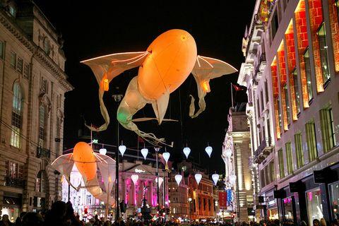 Lighting, Night, City, Pink, Metropolis, Invertebrate, Lantern, Downtown, Mixed-use, Midnight,