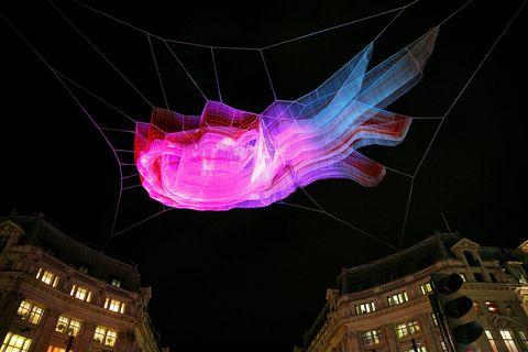 Night, Pink, Magenta, Darkness, Midnight, Metropolis, Symmetry, Neon,