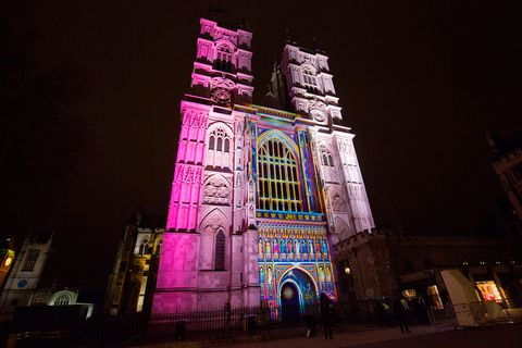 Night, Darkness, Purple, Landmark, Facade, Midnight, Magenta, Tourist attraction, Historic site, Tower,