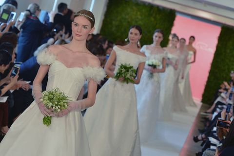 Clothing, Bridal clothing, Dress, Trousers, Event, Shoulder, Gown, Photograph, Petal, Joint,