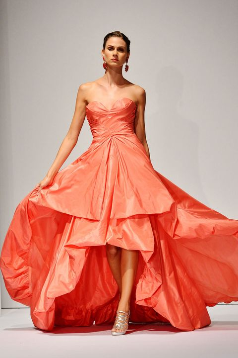 Clothing, Sleeve, Shoulder, Dress, Textile, Joint, Red, One-piece garment, Fashion model, Formal wear,