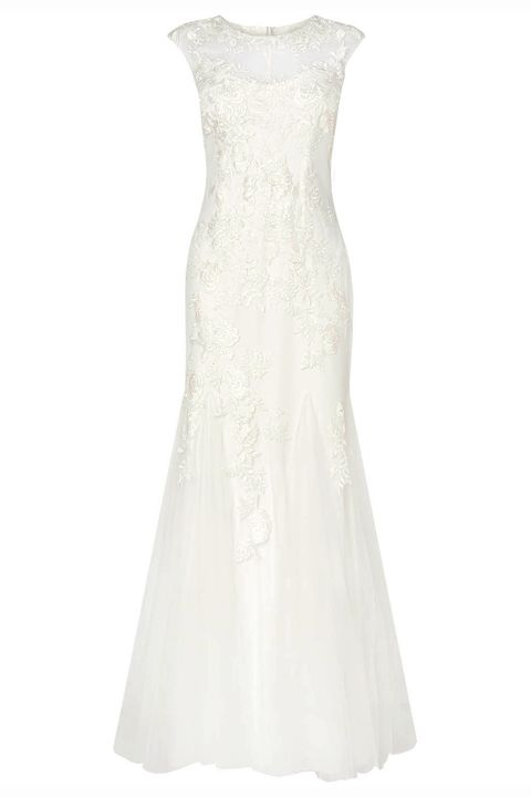 Product, Dress, Textile, White, One-piece garment, Formal wear, Pattern, Style, Gown, Wedding dress,