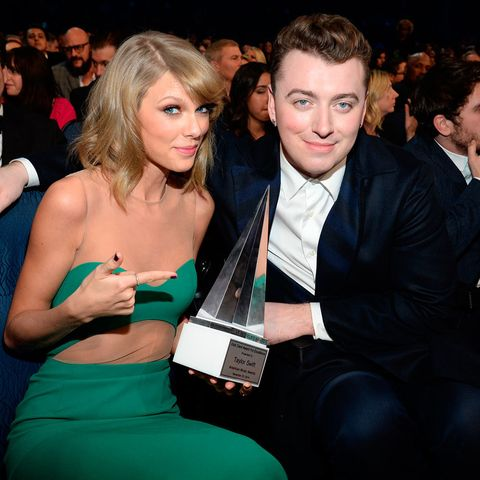 10fa7fc07f230 Picture  Taylor Swift and Sam Smith at the American Music Awards   Getty  Images