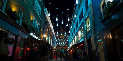 Blue, Lighting, Infrastructure, Night, Street, Town, Glass, Light, Urban area, Metropolis,