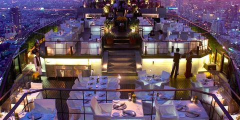 Metropolitan area, Cityscape, City, Urban area, Tablecloth, Purple, Dusk, Metropolis, Landmark, Roof,