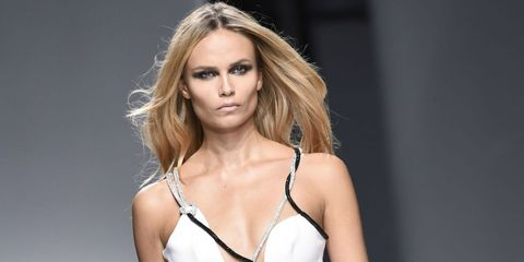 Natasha Poly on the Versace couture catwalk