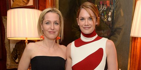 Gillian Anderson and Ruth Wilson, Dior by Avedon dinner