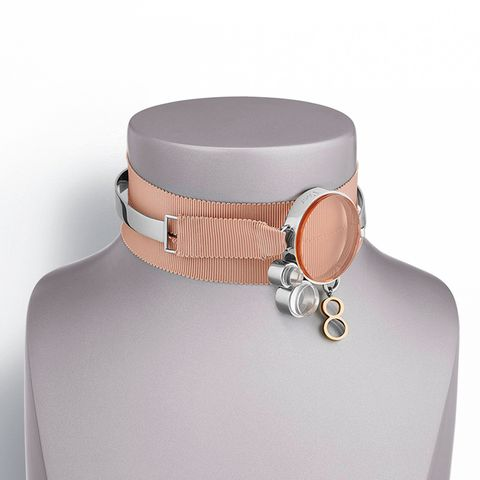 Metal and ribbon choker, Dior