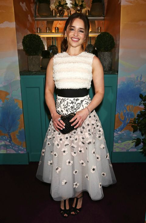 Emilia Clarke at the Chanel and Charles Finch pre-BAFTA party