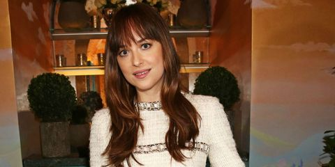 Dakota Johnson at the Charles Finch and Chanel pre-BAFTA party