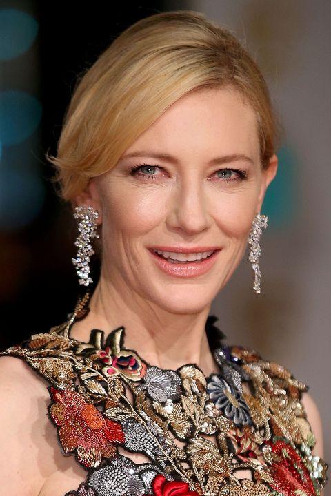 BAFTAS 2016 red carpet hair and make-up
