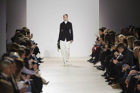 Fashion show, Human body, Event, Runway, Outerwear, Fashion model, Style, Fashion, Model, Waist,