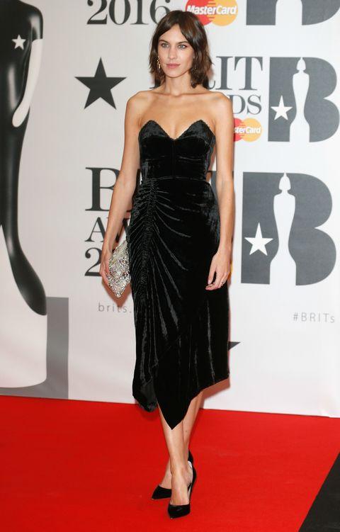 Alexa Chung at the Brit Awards 2016