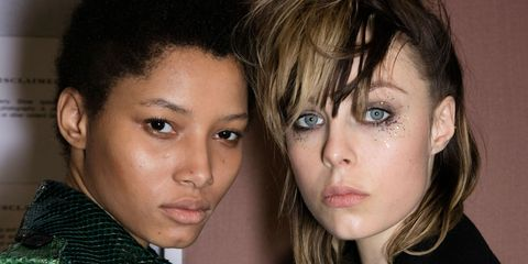 Backstage at Burberry autumn/winter 2016