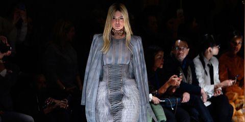 Kendall Jenner on the Balmain catwalk