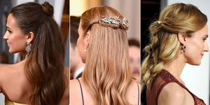 Half-up half-down hairstyles at the Oscars 2016