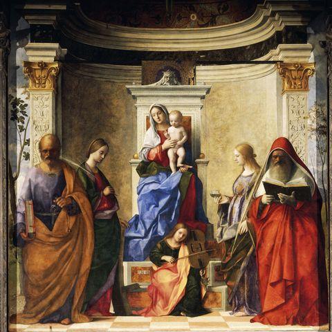 The altarpiece by Bellini in Venice's San Zaccaria church