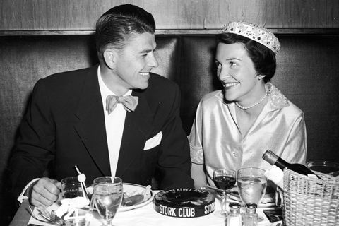 Ronald and Nancy Reagan on honeymoon in 1952
