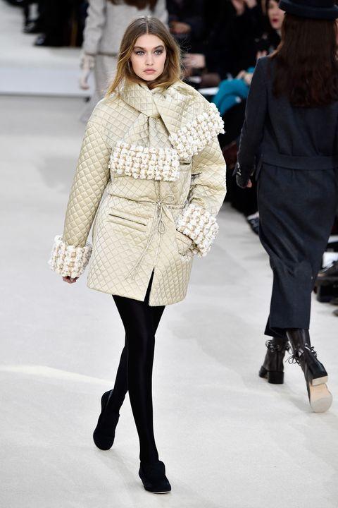Gigi Hadid on the Chanel catwalk