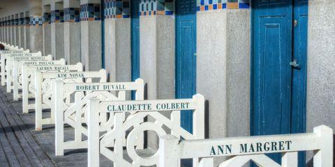 The Promenade des Plances in Deauville, Normandy