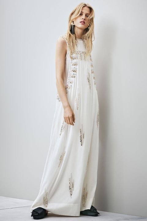 h&m beaded wedding dress