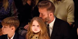 Harper Beckham on the front row