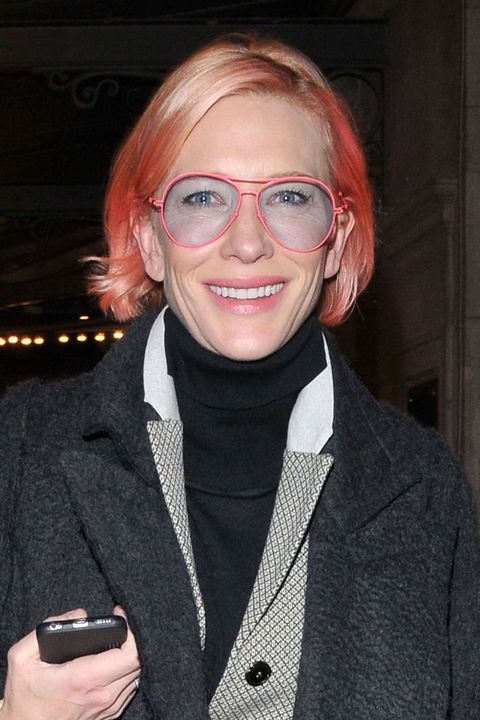 Cate Blanchett with pink hair