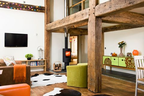 Lighting, Interior design, Room, Floor, Flooring, Wall, Ceiling, Real estate, Interior design, Orange,