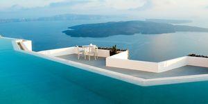 The pool at Grace Santorini
