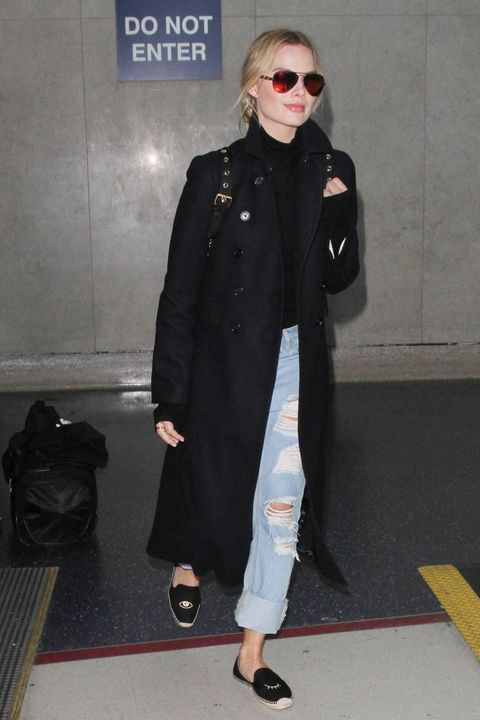 Airport style, what to wear to the airport, travel style inspiration, celebrity airport style