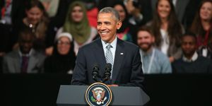 President Barack Obama at the Town Hall in London
