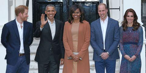The Obamas visit Kensington Palace