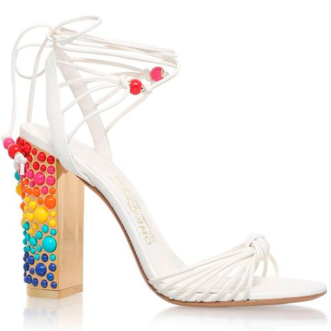 Salvatore Ferragamo rainbow heel sandals