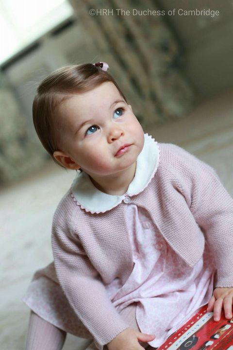 Pictures of Princess Charlotte for her first birthday