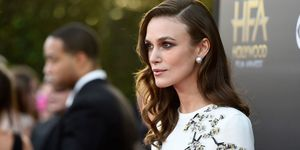 Keira Knightley wearing pearl earrings