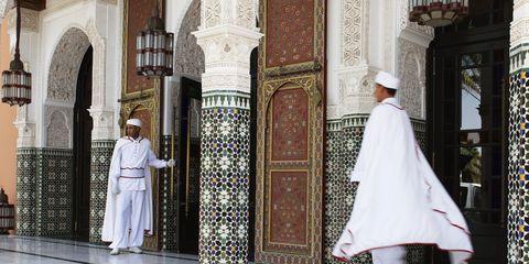 The entrance to La Mamounia in Marrakesh