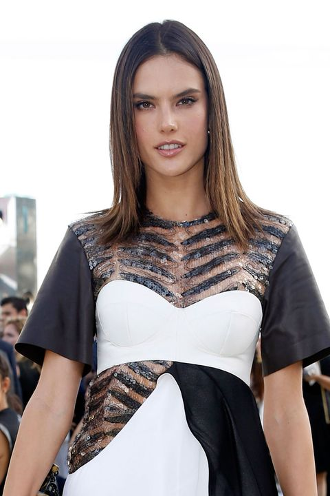 Alessandra Ambrosio at the Louis Vuitton cruise show