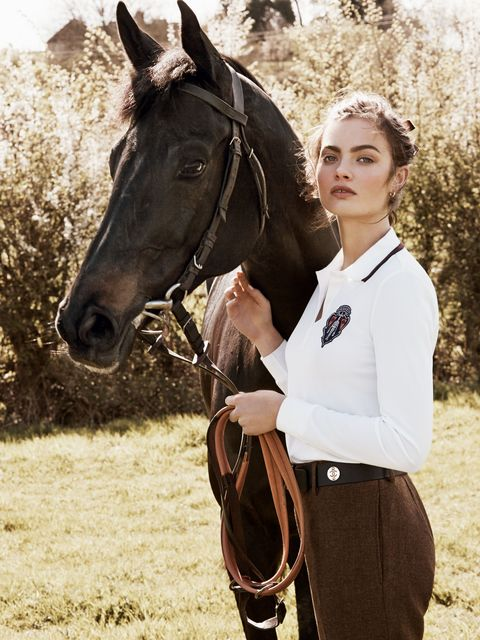 Horse-riding picture from July 2014 issue of Harper's Bazaar
